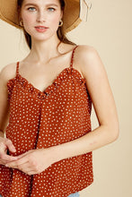 Polka Dot Ruffled Cami Top