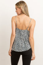 Woven Lace Camisole Tape Leopard Print