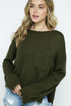 Fringe Pullover over Sweater with Pocket