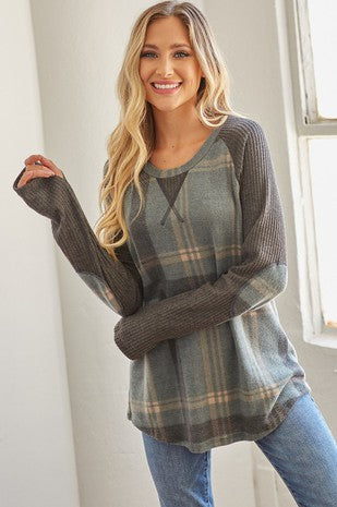 TUNIC TOP WITH ELBOW PATCH