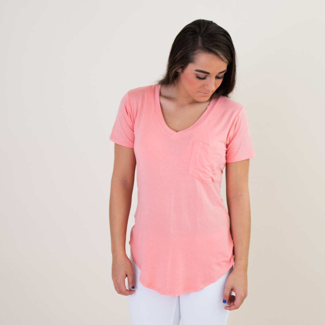 Phoenix Pocket Tee - Blush