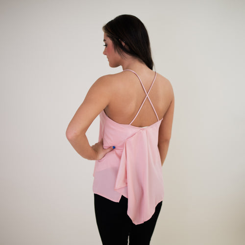 Rumi Woven Top - Dusty Pink