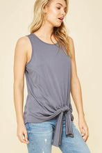 Tank Top Self-Tie Knotted Hem