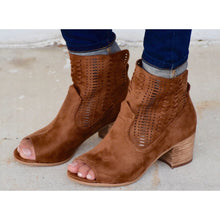 Not Rated Savio Tan Open Toe Boots
