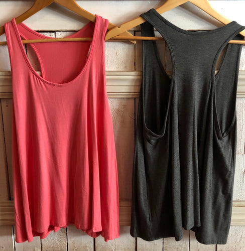 Round Neck and Razorback Tank Top