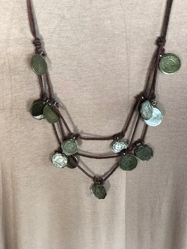 Antique Coin Multi Strand Necklace