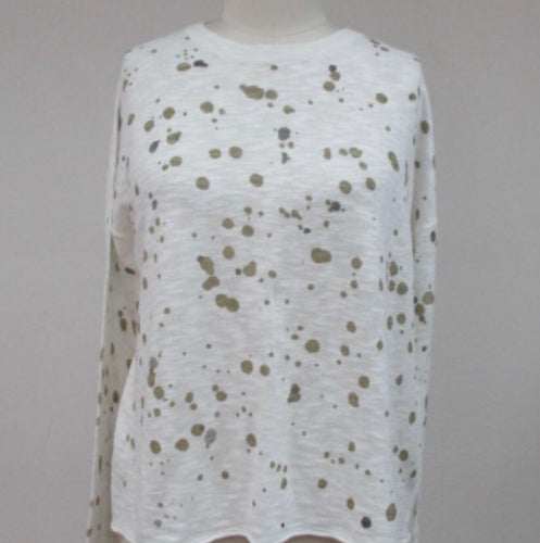 Light Weight White w/Olive Dots Shirt