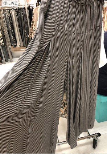 Wide Pin Striped Capris