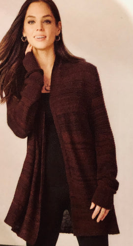Mid Length Long Sleeve Cardigan