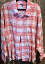 Plaid Long Sleeve Shirt (Curvy)