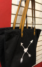 Crossed Arrows Tote (available in black and navy)