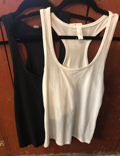 Round Neck with Racerback Tank Top (Available in Black or White)