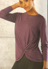 Sparkle Long Sleeve Top with Twisted Front