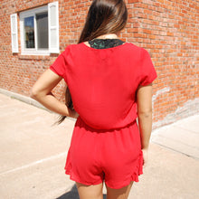 Buddy Love Rush Romper - Red