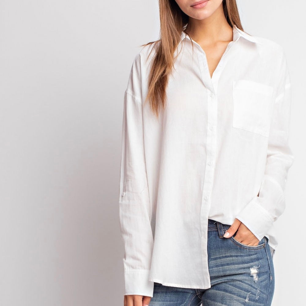 Ivory Button Down Top