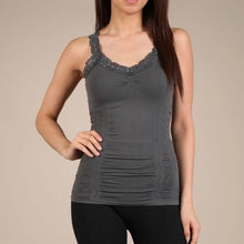 Seamless Cami Corset Look with Lace - 3 Colors