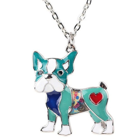 Pug Dog Necklace Charm Collar