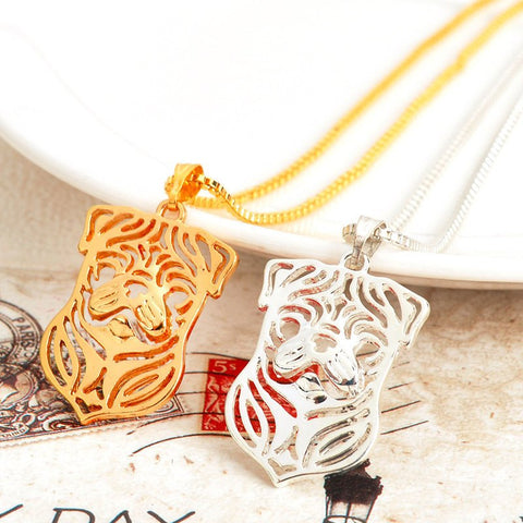 Gold Silver Pug Necklace