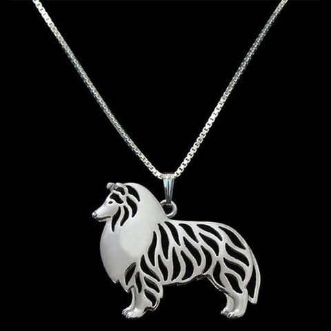 Collie Pendant Silver Plated Necklaces