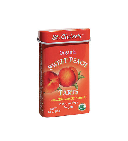 Organic Sweet Peach Tarts with Acerola Berry vitamin C