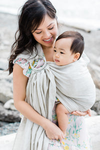 Sample Sale Bluffs Linen Ring Sling with Silver Rings
