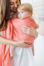 peachland coral ring sling canada | baby carrier for newborns and toddlers | Potter & Pehar linen ring sling