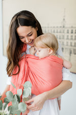 coral ring sling canada | baby carrier canada | Potter & Pehar Peachland ring sling