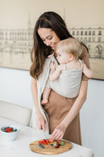 ring sling canada | baby carrier for newborns and toddlers | Potter & Pehar linen ring sling
