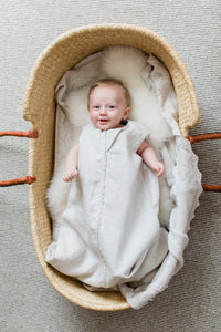 neutral sleep sack | breathable baby sleep sack | summer sleep sack | modern baby products | bamboo baby sleep sack