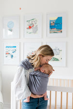 baby wearing | how to use a ring sling, linen baby wrap, baby shower gifts