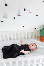 Black sleep sack | breathable baby sleep sack | summer sleep sack | linen and bamboo baby sleep sack