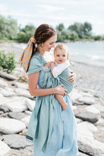 light green ring sling canada | baby carrier for men | Potter & Pehar ring sling