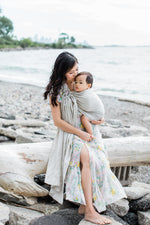 beige ring sling canada | neutral baby carrier | Potter & Pehar ring sling