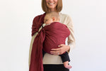 edward ring sling canada | burgundy baby carrier canada | Potter & Pehar linen ring sling