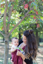 burgundy ring sling canada | baby carrier canada | Potter & Pehar Edward ring sling