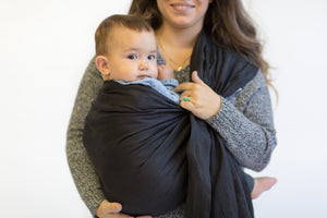 black ring sling canada | baby carrier for toddlers | Potter & Pehar ring sling for toddlers