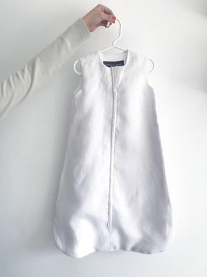 White sleep sack | breathable baby sleep sack | summer sleep sack | linen and bamboo baby sleep sack