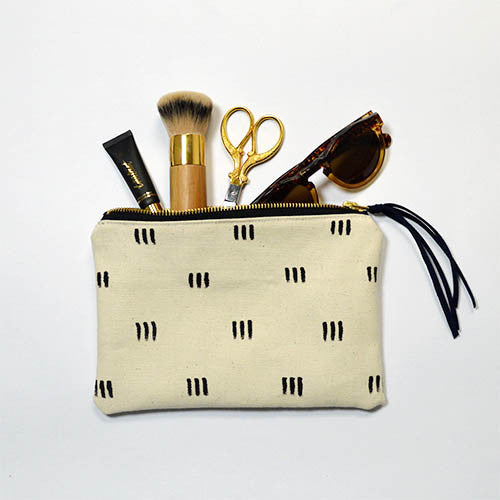 Rosairus - Three Dots Pouch - Cream/Black