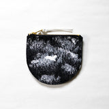 Rosairus - Mountain Rain Round Coin Wallet - Black/White