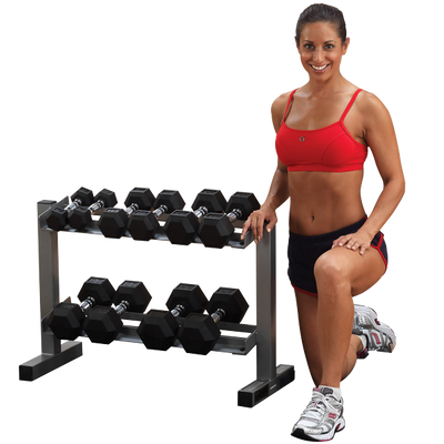 "Dumbbell Rack - Body Solid Powerline 28"" 2 Tier"