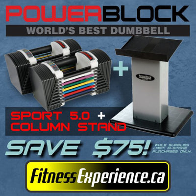 PowerBlock 5.0 Dumbell Set (5-50lbs)