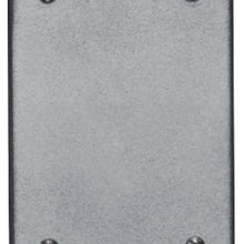 1-Gang, Blank, Cast Aluminum, Cast Device Box Cover - Dalf-Point