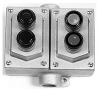 3/4 Inch, 2NO-2NC, Dead End, Explosionproof Pushbutton Control Station - Dalf-Point