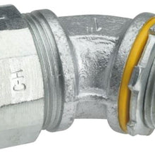1/2 Inch, Malleable Iron, 45D, Metallic Conduit Connector - Dalf-Point