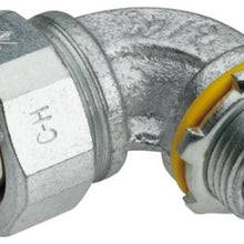 1/2 Inch, Malleable Iron, 90D, Metallic Conduit Connector - Dalf-Point