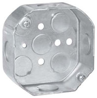 4 Inch x 1-1/2 Inch, 15.5 Cubic Inch, Steel, Octagon, Outlet Box - Dalf-Point