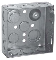 4 Inch x 2-1/8 Inch x 4 Inch, Steel, Square Outlet Box - Dalf-Point