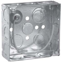 4 Inch x 1-1/2 Inch x 4 Inch, Steel, Square Outlet Box - Dalf-Point