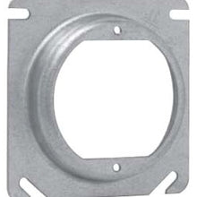 5/8 Inch Raised, 5 Cubic Inch, Steel, Square Box Cover - Dalf-Point