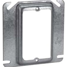 1-Gang, 5/8 Inch Raised, 4.3 Cubic Inch, Steel, Square Box Mud Ring - Dalf-Point